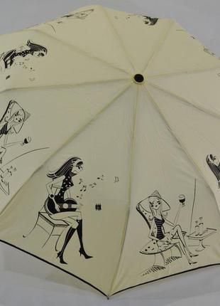 Молодёжный женский зонт полуавтомат антиветер . модно и качественно!