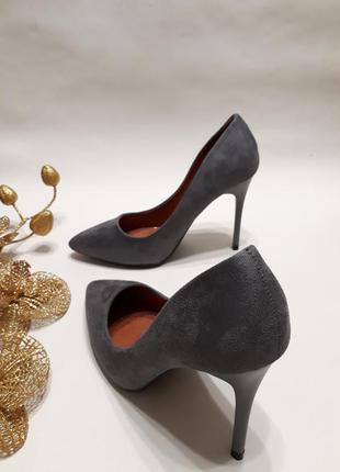 Акція ! туфлі лодочки (туфли-лодочки) сірого кольору розмір 38, 40р.