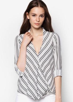 Монохромна блуза із драпіруванням 36/s topshop