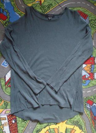 Трендовый легкий свитер в рубчик
