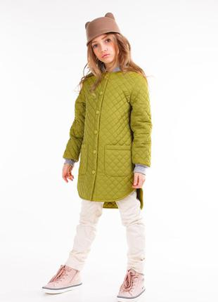 Стильная стеганная куртка для девочек. коллекция осень 2018.