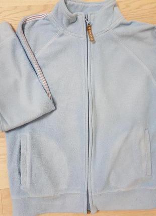 Флисовая теплач кофта с замком для девочки и мальчика