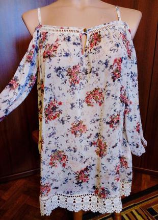 Блузка f&f с открытыми плечами