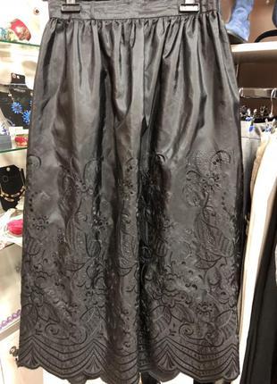 Элегантная/стильная/ черная /длинная юбка/ бренд hermann lange/