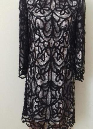 Новое очень красивое кружевное платье moonsoon