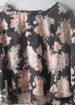 Легкая блуза-разлетайка new look.