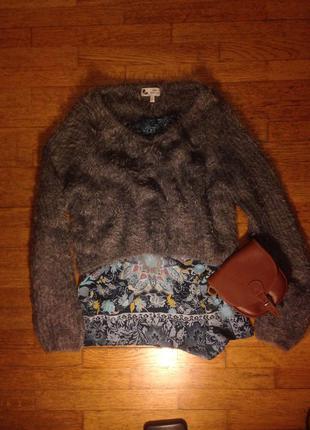Мягкий свитер травка