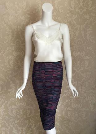 Missoni оригинал италия трикотажная юбка карандаш миди