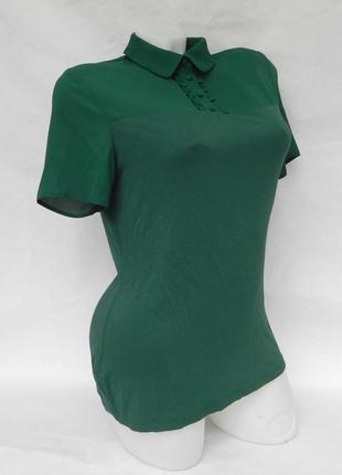 Блуза футболка изумрудного цвета dorothy perkins