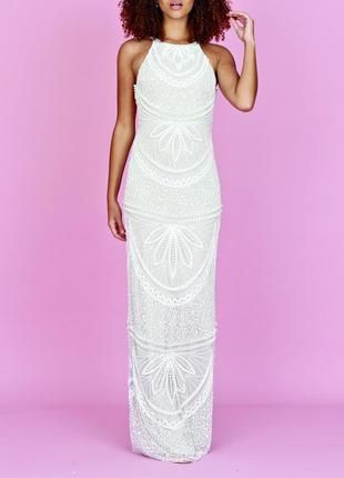 -30%! свадебное платье, вечернее, нарядное, выпускное. р.8 (s, m)