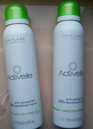 Спрей дезодорант-антиперспирант activelle с экстрактом зеленого чая орифлейм