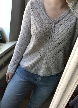 Серый свитер от h&m