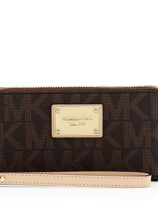 Новый michael kors large logo wallet phone case оригинальный кошелек