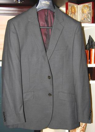 Отличный современный приталенный пиджак bhs, пог 54см европейское качество