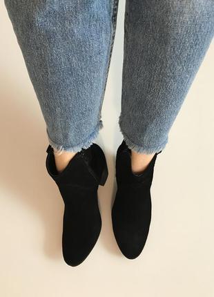 Шикарные ботиночки из натуральной замши от next