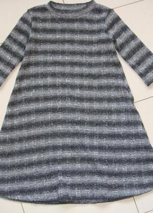 Актуальное платье в рубчик 5-6лет