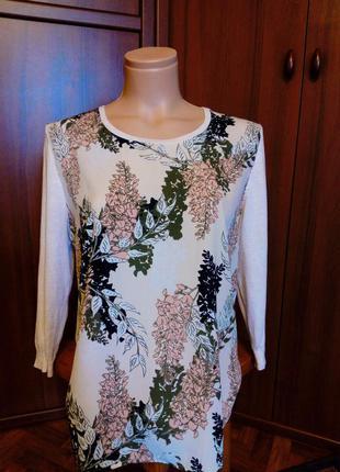 Кофта george кофточка блузка свитер с цветочным принтом
