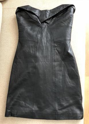 Продам красивое кожаное платье