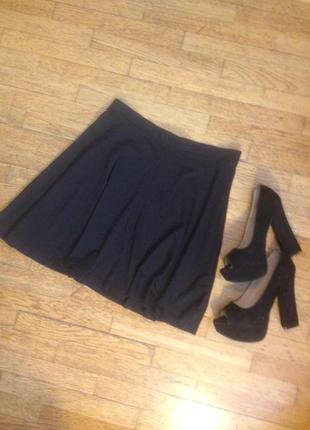 Чёрная юбка солнце клёш
