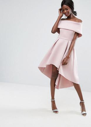 Распродажа 🌷🌷🌷💋 asos светло-розовое асимметричное платье неопрен