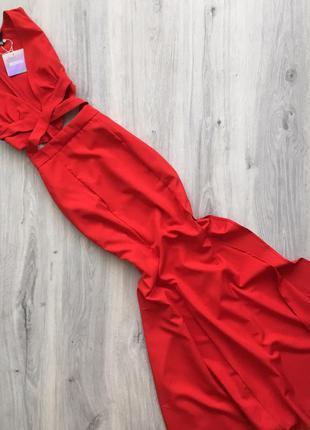 Шикарное красное платье  missguided