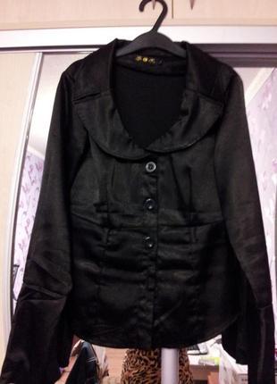 Атласный пиджак-рубашка