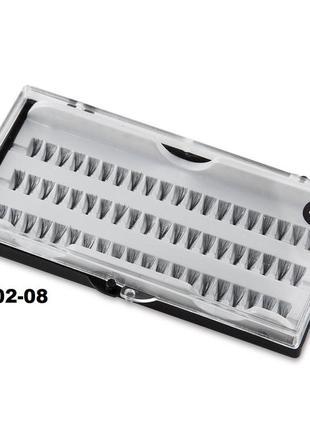 Е002-08 пучковые накладные ресницы 8 мм 60 пучков