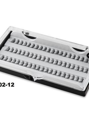 Е002-12 пучковые накладные ресницы 12 мм 60 пучков