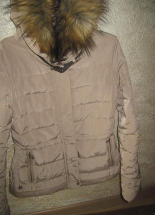 Куртка пуховик zara -м