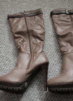 Брендові чоботи жіночі ronzo 41 (сапоги женские) 27 см демісезонні