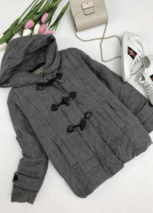 Фирменная куртка-пальто,верх шерсть наполнитель пух!👌🏽max mara
