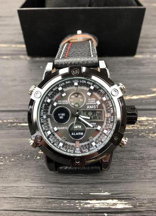 Супер цена!!! наручные часы amst stitching black без предоплат!
