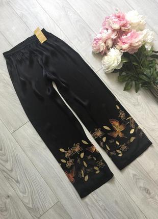 Тренд сатиновые свободные  брюки
