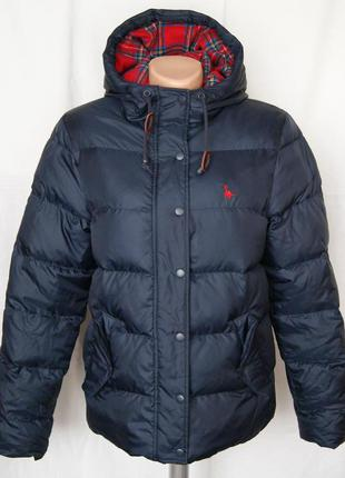 Куртка пуховая темно-синяя