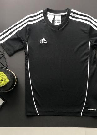 06db6f45bb1 Черная спортивная футболка adidas оригинал на 9-10 лет Adidas