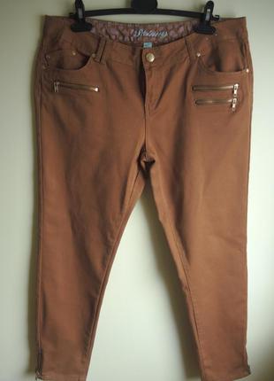 Стильные джинсы большого размера /18/99% хлопок