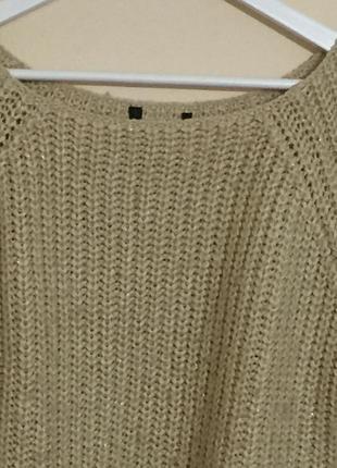 Модный свитер крупная вязка