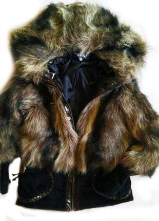 Модная зимняя меховая куртка