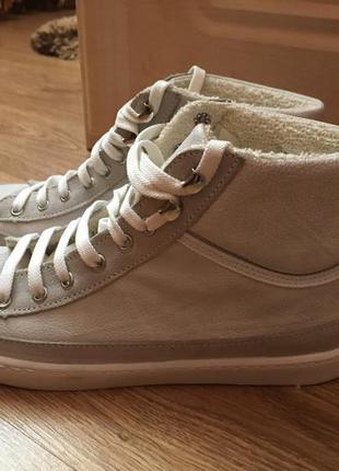 Итальянские кожаные кроссовки кеды