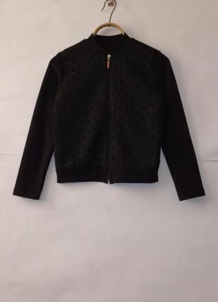 Бомбер, пиджак на змейки  классика для девочки martex 152см