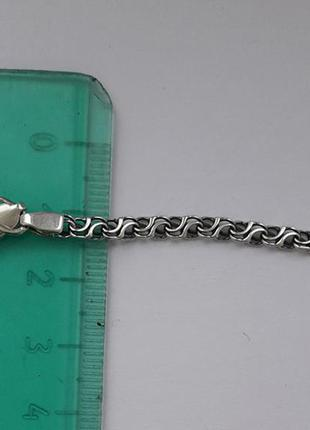 45см2  Ланцюжок срібний на шию (цепочка ручеек двойной) 8.39 гр. 45см3 b7370bc2ccfa4