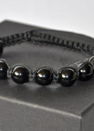 Мужской браслет шамбала черный