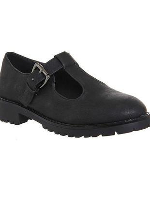 Office girl (london) обувь чёрного цвета в ретро стиле для офиса или учебы