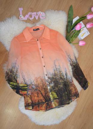Asos блуза с красивым принтом