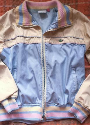 Спортивная куртка lacoste оригинал размер м-л, модная спортивная куртка