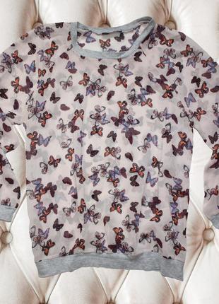 Рубашка бабочки цветная