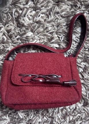 Новая миниатюрная актуальная твидовая сумочка