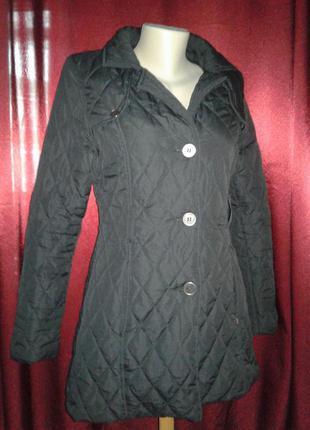 Удлиненная стеганая куртка пальто на тонком синтепоне brave soul (#367) только продажа