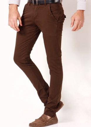 Английские чинос брюки 38/52  р  темно-коричневый цвет
