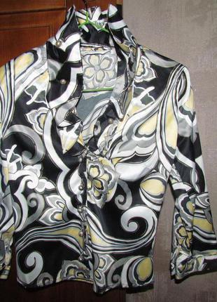 Блуза с красивым воротником